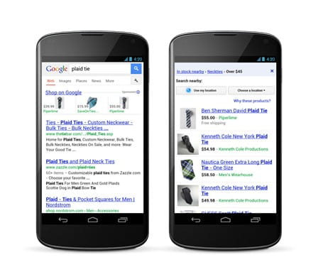 Google Product Listing Ads fuer Smartphone