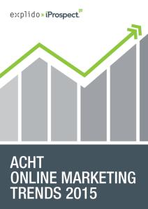 Whitepaper Acht Online Marketing Trends 2015