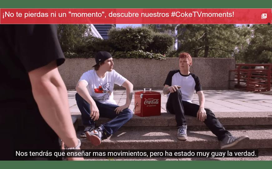 Tarjeta Coke Tv Moments