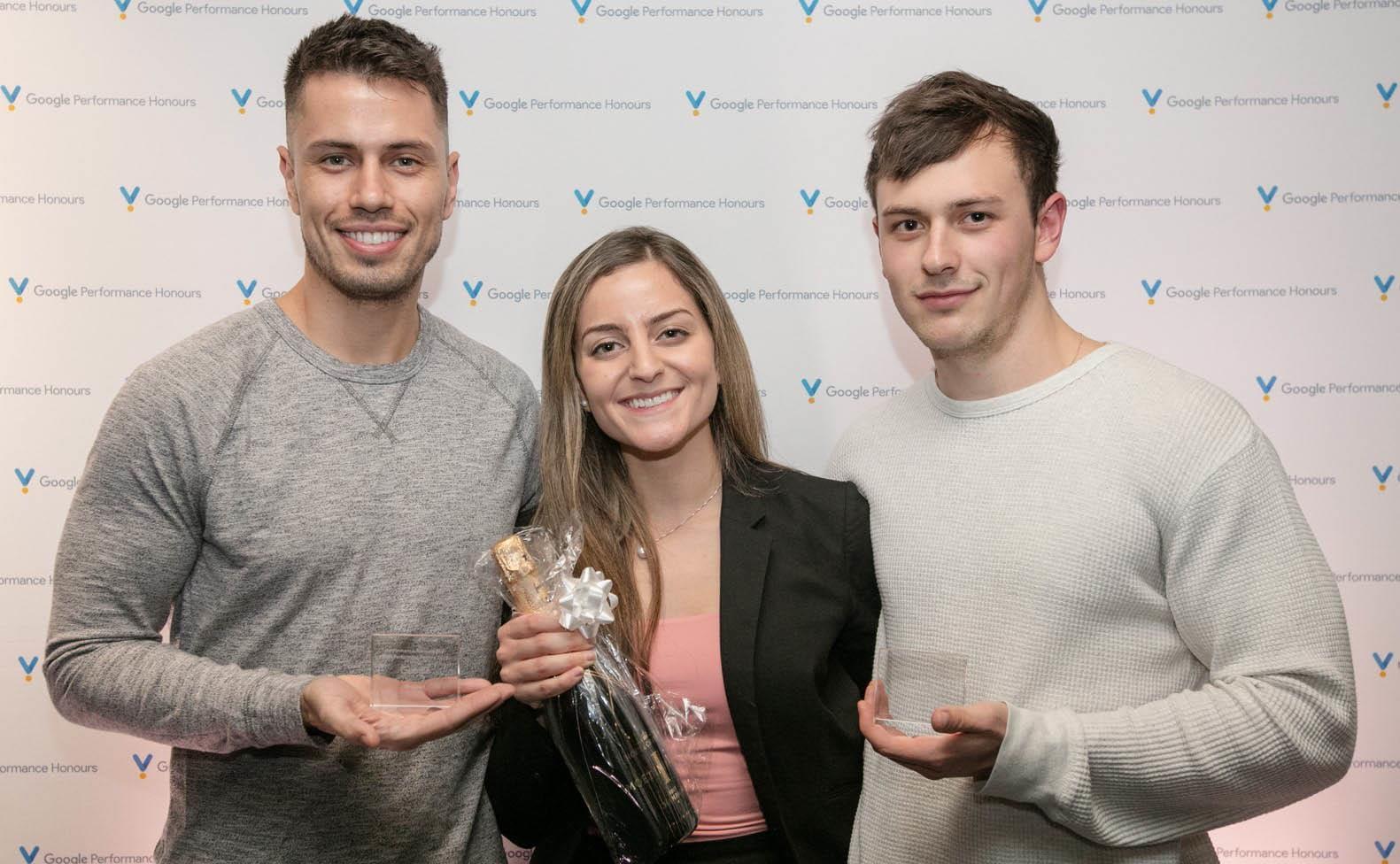 iProspect team members - Mateus, Tamar, Mitch