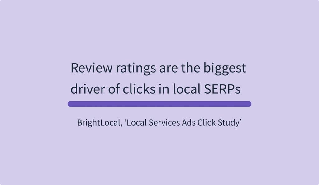 Review ratings er den største kilde til klik i lokale SERPs