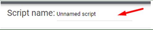 Navngivning af script