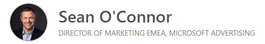 Sean O'Connor, Microsoft Advertising