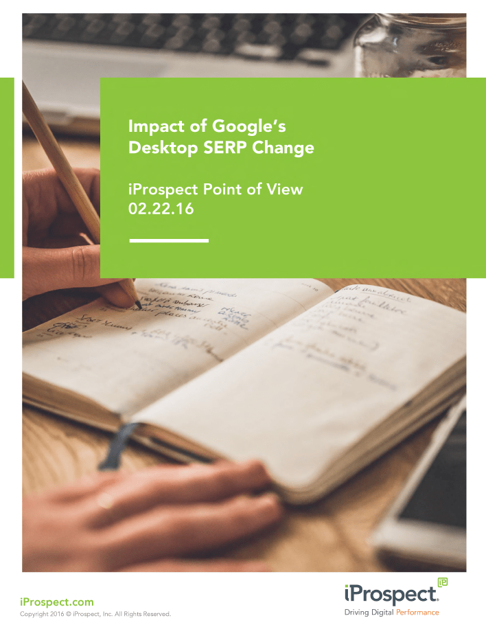 iProspect Point of View on Impact of Google's Desktop SERP Change