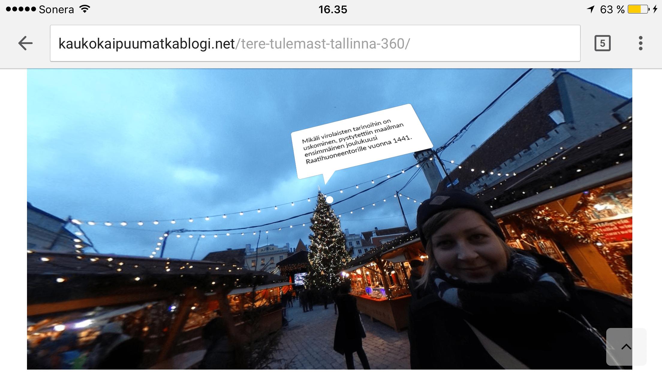 Kaukokaipuu-blogissa Nella pureutuu 360-kuvauksen saloihin.