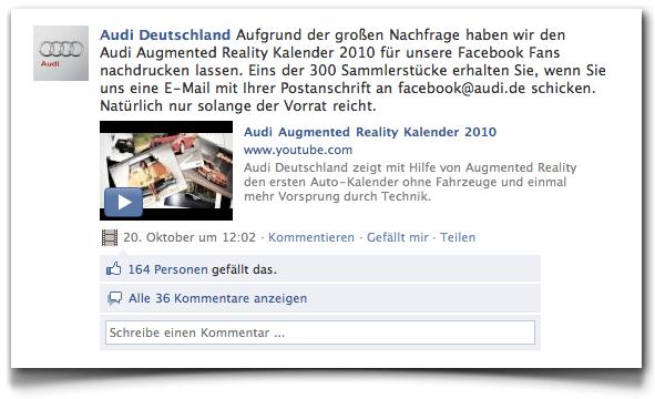 Audi Facebook Fan Page