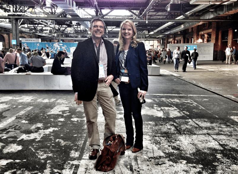 Prof. Dr. Gunter Dueck (CEO, Omnisophie) und Vanessa Berger (Head of Marketing, explido)