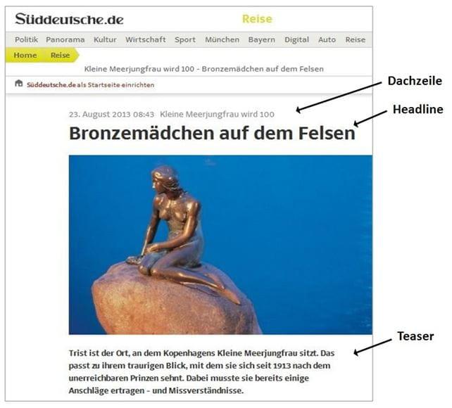 Das Teaser-Bauprinzip: Ein Beispiel auf sueddeutsche.de