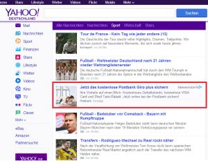 Yahoo Stream Ads im Nachrichten Stream
