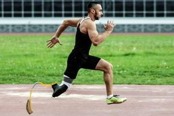 amputee runner on a track