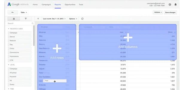 Step inside Google Adwords