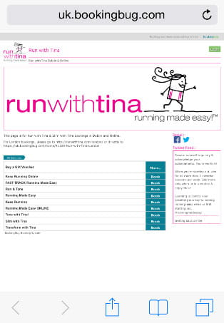 run with Tina