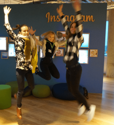 Denstu Facebook jumping photo