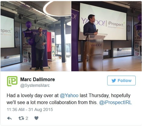 Yahoo Event