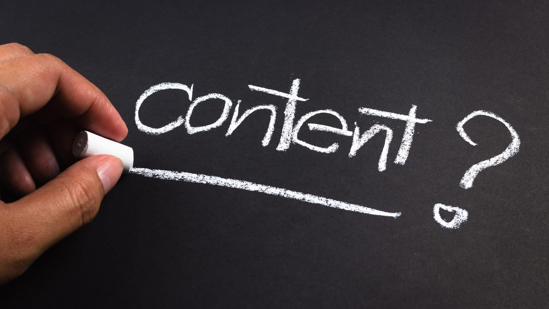 Content VS Format