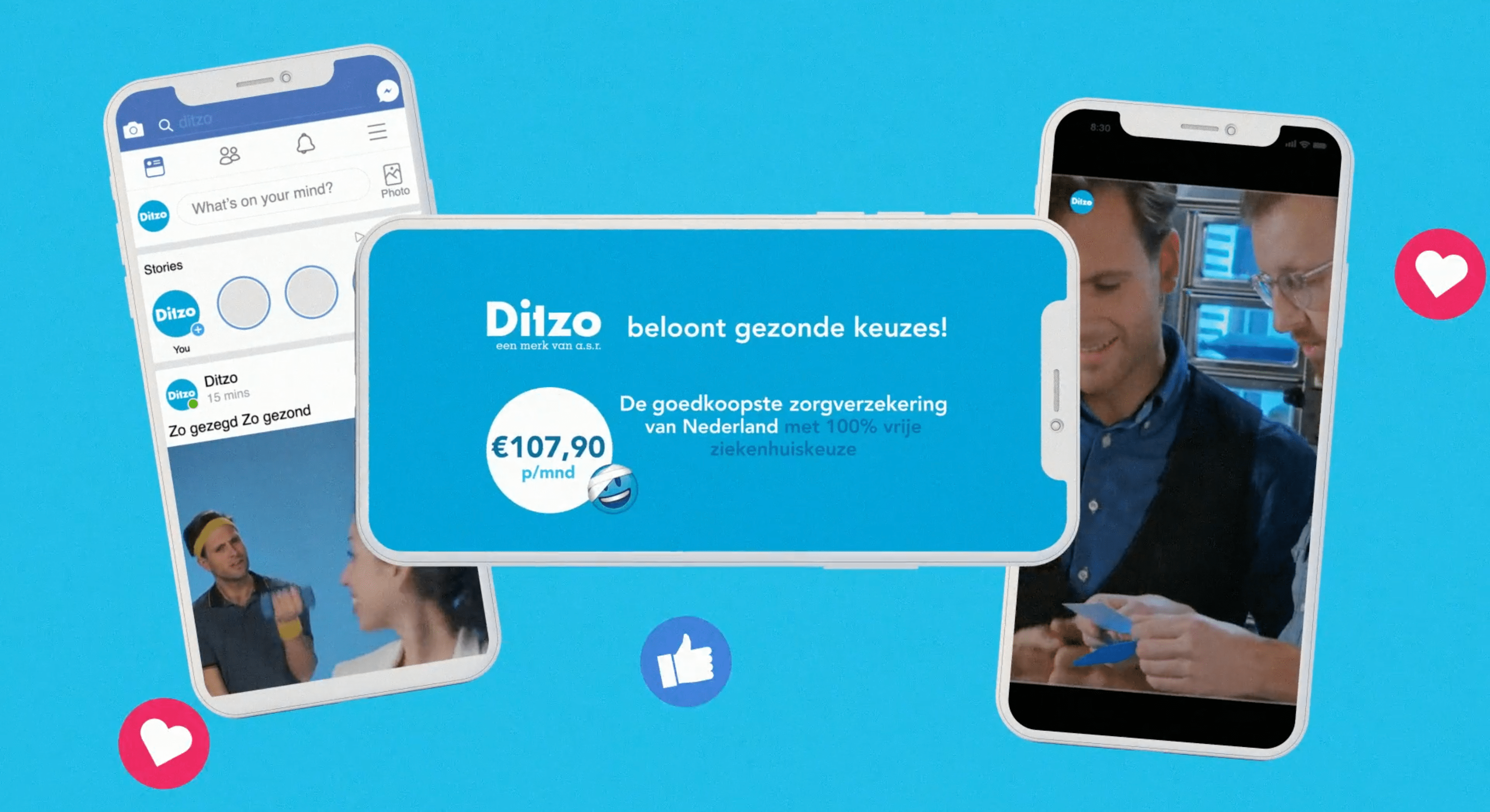 Ditzo 'zo gezegd zo gezond'; less budget more insurance policies