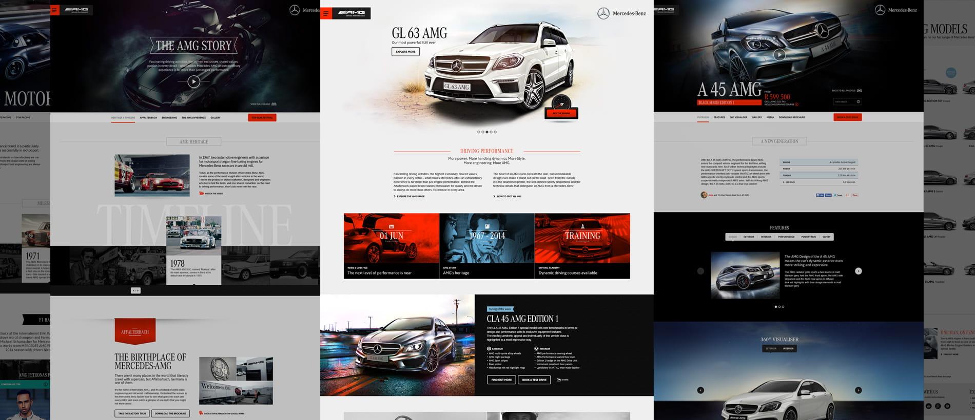 AMG Website Screens