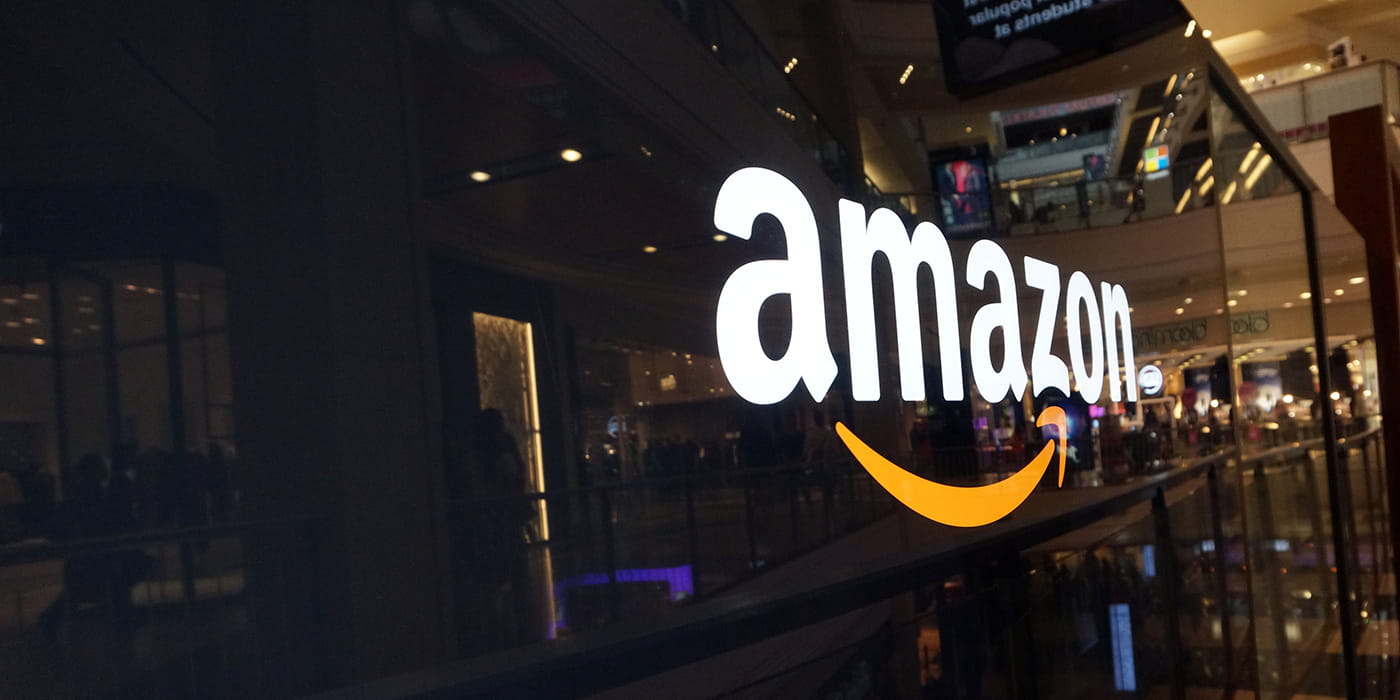 Amazon sign on side of wall