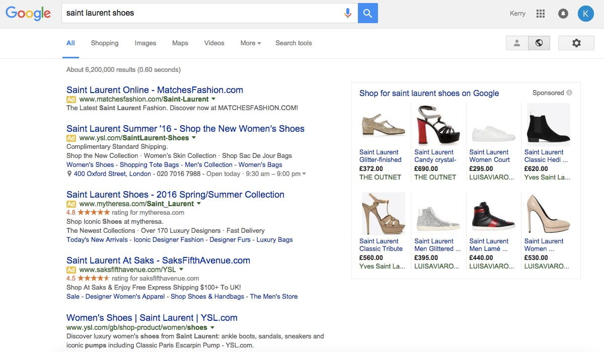Google Search Layout Update