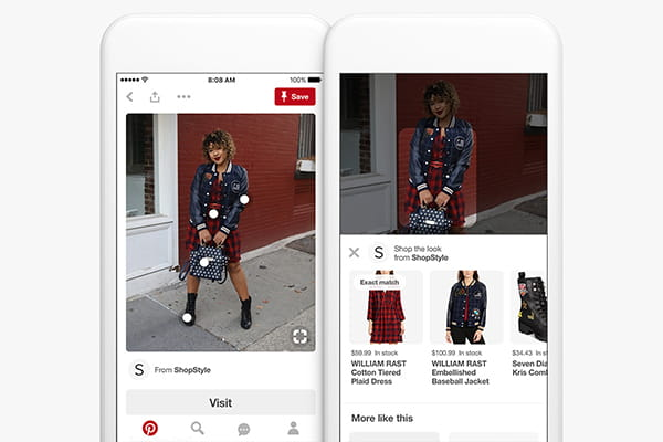 Pinterest Shop the Look - mobile phone