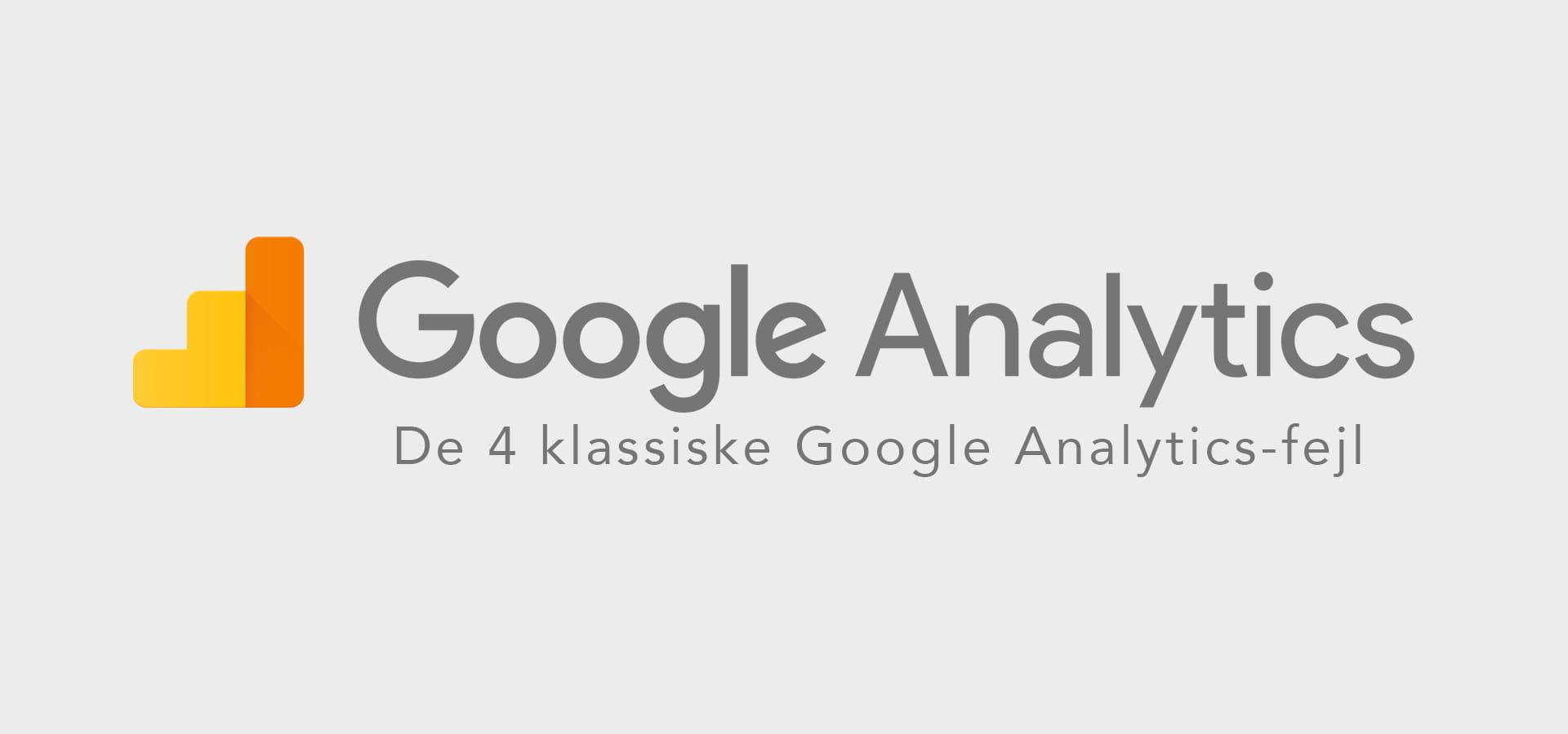 Google Analytics-fejl coverbillede