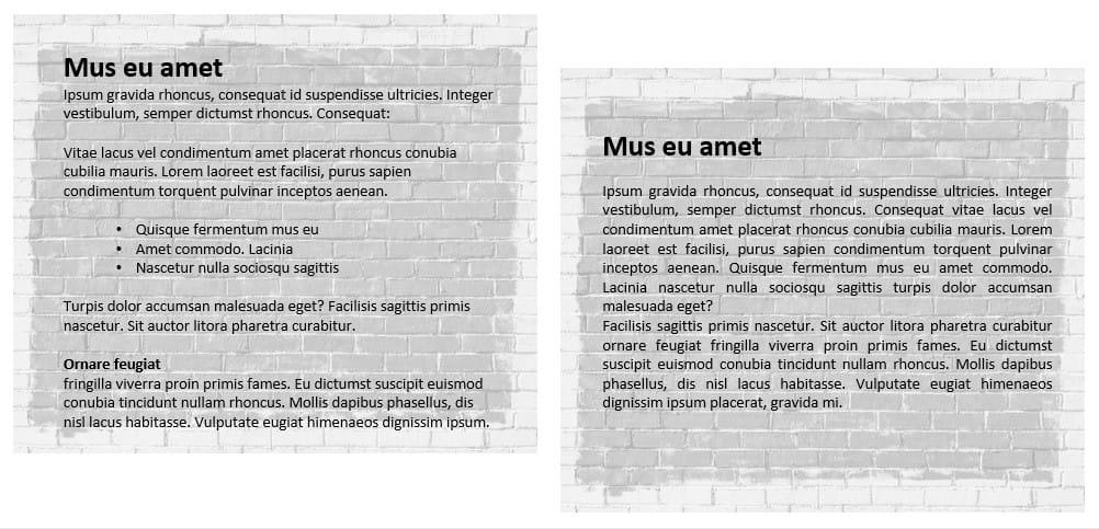 Den gode tekst er læsevenlig med afsnit, underoverskrifter og bullets