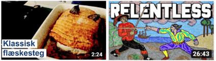 Eksempler på gode thumbnails