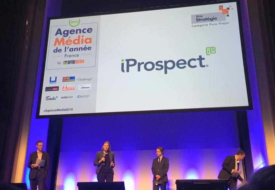 iProspect : Agence Média de l'année Prix stratégie