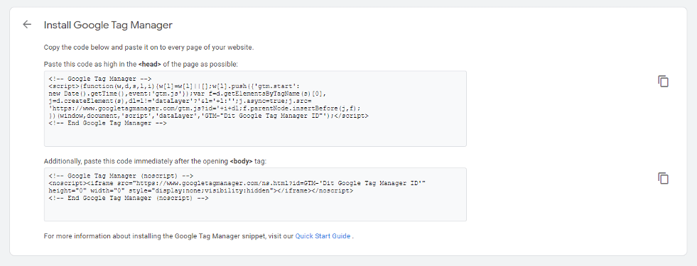 Make GTM Setup Smarter - Install Google Tag Manager Pop-Up