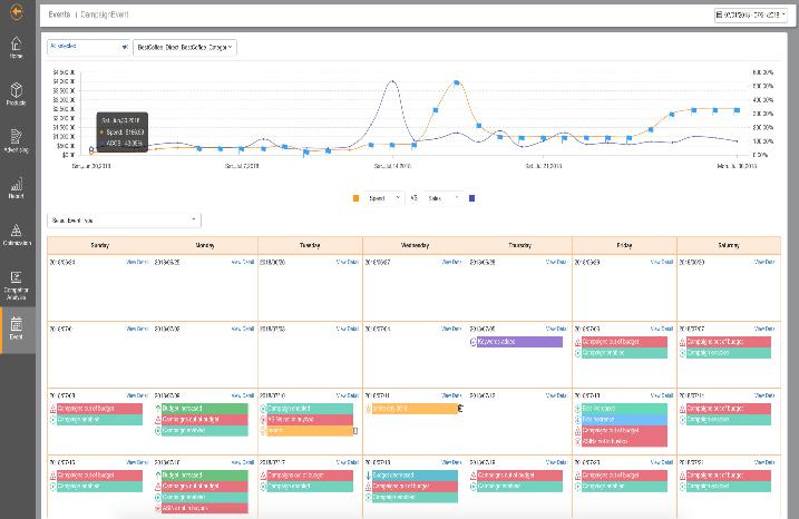 Eventカレンダーのスクリーンショット
