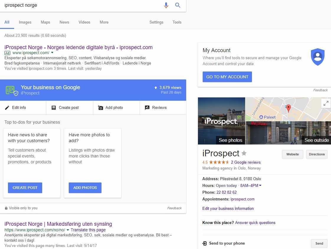 Illustrasjonsbilde som viser nyheter i Google My Business