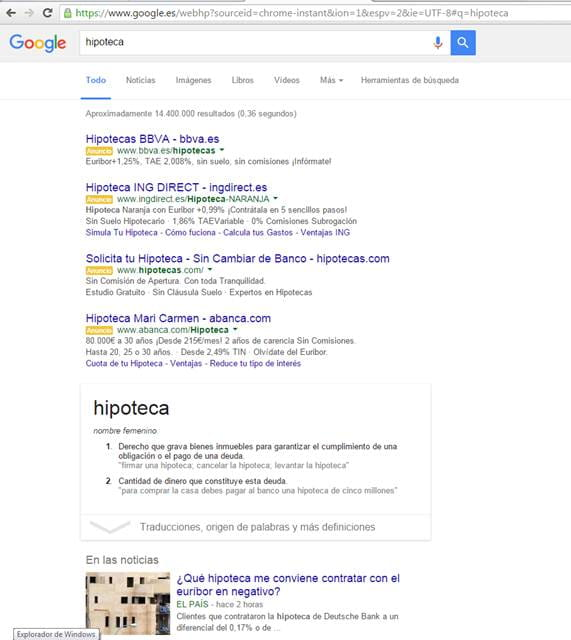 Cambios Google SERP