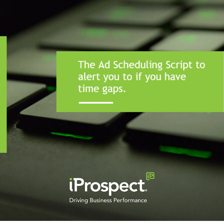 The Ad Scheduling Script to alert you to if you have time gaps